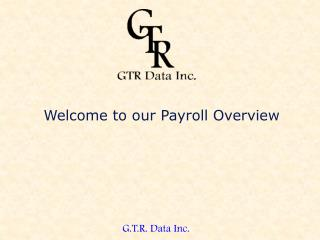 Welcome to our Payroll Overview
