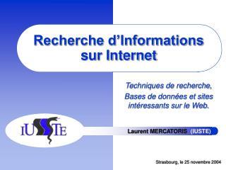 Recherche d Informations sur Internet