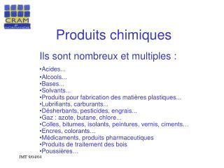 Produits chimiques