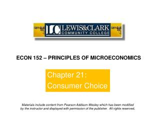 Chapter 21: Consumer Choice