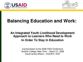 Balancing Education and Work: