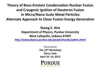 Theory of Bose-Einstein Condensation Nuclear Fusion and Cryogenic Ignition of Deuteron Fusion  in Micro
