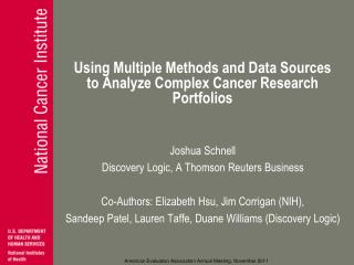 Using Multiple Methods and Data Sources to Analyze Complex Cancer Research Portfolios