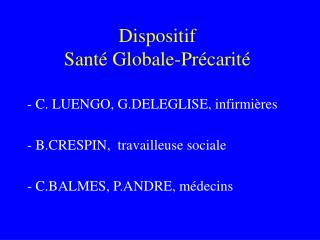 Dispositif  Sant  Globale-Pr carit