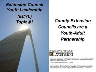 Extension Council Youth Leadership ECYL