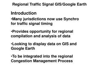 Regional Traffic Signal GIS