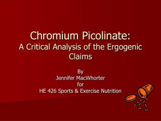 Presentation by Jennifer MacWhorter