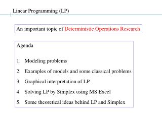 Linear Programming LP