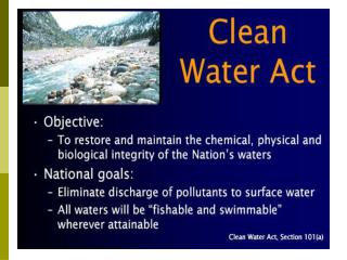Water Pollution and the Federal Clean Water Act