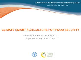 Climate-smart agriculture for food security