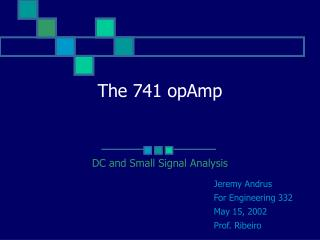 The 741 opAmp