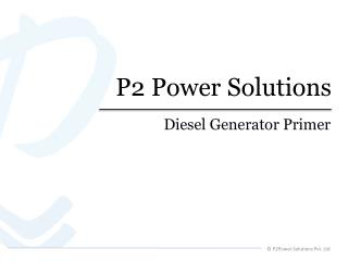 P2Power Solutions Pvt. Ltd