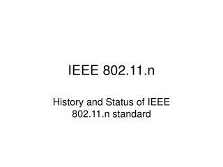 IEEE 802.11.n