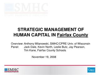STRATEGIC MANAGEMENT OF HUMAN CAPITAL IN Fairfax County