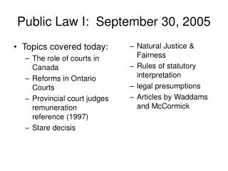 Public Law I:  September 30, 2005