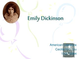 emily dickinson outline There is no frigate like a book (1263) emily dickinson , 1830 - 1886 there is no frigate like a book to take us lands away, nor any coursers like a page of prancing poetry – this traverse may the poorest take without oppress of toll – how frugal is the chariot that bears a human soul.