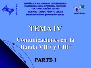 Comunicaciones en  la Banda VHF y UHF