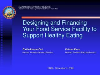 Designing and Financing Your Food Service Facility to Support Healthy Eating
