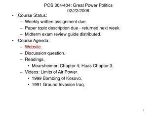 04/404: Great Power Politics