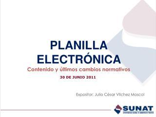 PLANILLA ELECTR NICA  Contenido y  ltimos cambios normativos
