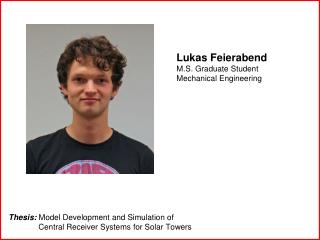 Lukas Feierabend M.S. Graduate Student Mechanical Engineering