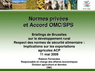 Normes priv es  et Accord OMC