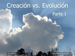 Creaci n vs. Evoluci n