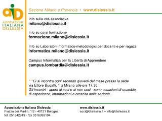 Sezione Milano e Provincia     dislessia.it