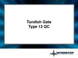 Tundish Gate Type 13 QC