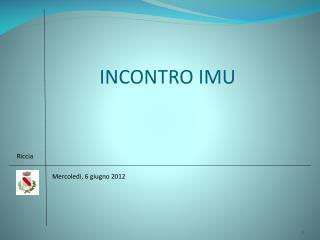 INCONTRO IMU