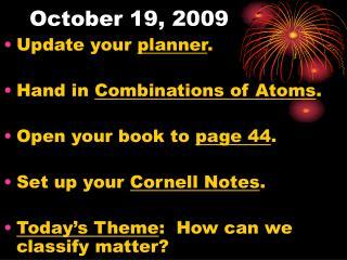 October 19, 2009