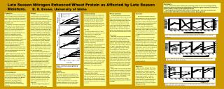 Late Season Nitrogen Enhanced Wheat Protein as Affected by Late Season Moisture.   B. D. Brown. University of Idaho