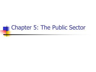 Chapter 5: The Public Sector