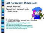 Self-Awareness Dimensions