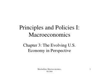Principles and Policies I: Macroeconomics