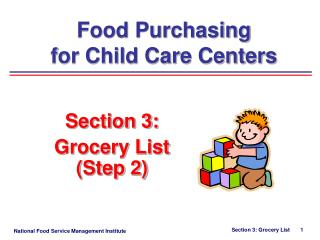 Section 3:   Grocery List Step 2