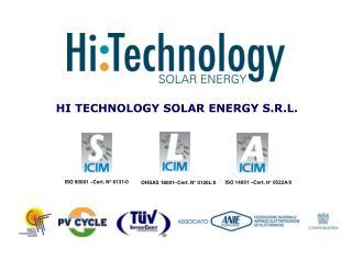 HI TECHNOLOGY SOLAR ENERGY S.R.L.