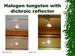 Halogen tungsten with dichroic reflector