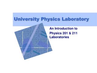 University Physics Laboratory
