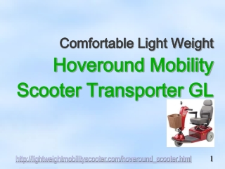 Hoveround Mobility Scooters: Transporter GL Review