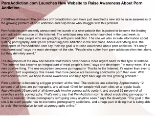 PornAddiction.com Launches New Website to Raise Awareness Ab