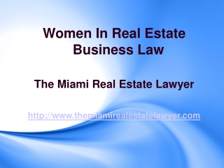 Women In Real Estate Business Law