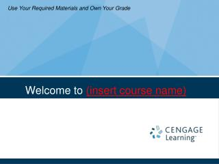 Welcome to insert course name