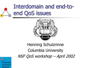 Interdomain and end-to-end QoS issues