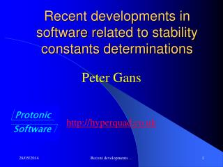 Recent developments in software related to stability constants determinations