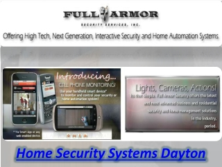 Home Security Systems Dayton
