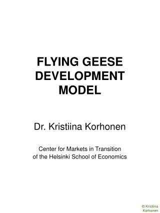 FLYING GEESE DEVELOPMENT MODEL