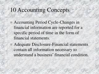 10 Accounting Concepts