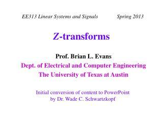 Z-transforms