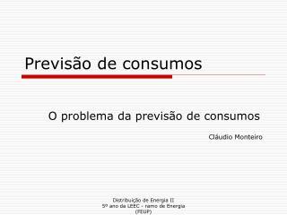 Previs o de consumos